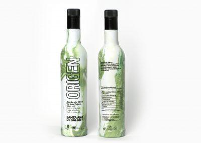 Botella Origen Vertical Verde Blanco