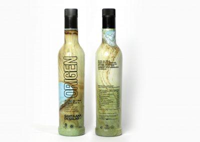 Botella Origen Vertical Verde marrón